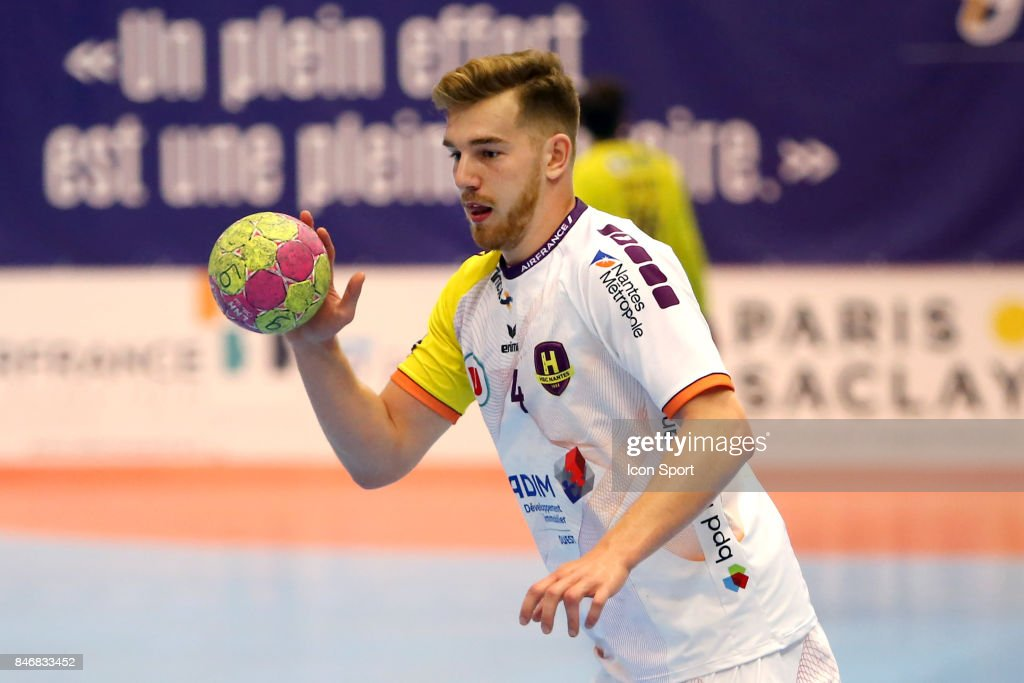 Rudolf Faluvegi of Nantes during Lidl Star Ligue match between Massy Essonne Handball and HBC Nantes on September 13, 2017 in Massy, France.