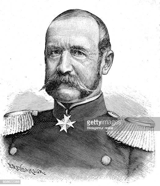 Rudolf Ferdinand von Kummer, 1816 - 1900, Was a Prussian officer, lastly General of the infantry, Situation from the time of The Franco-Prussian War...