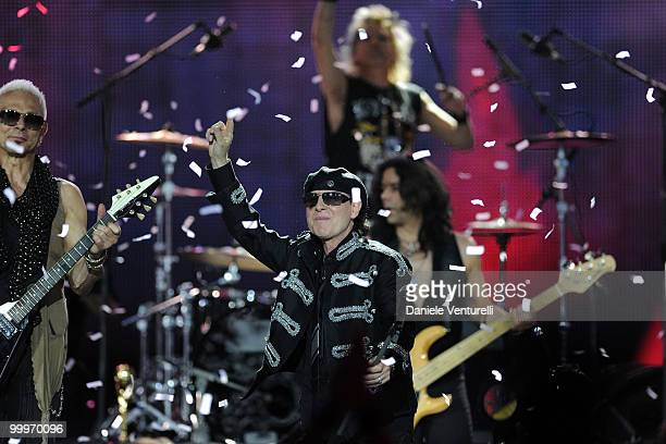 Rudolf Maciwoda and Klaus Meine performs on stage during the World Music Awards 2010 at the Sporting Club on May 18 2010 in Monte Carlo Monaco