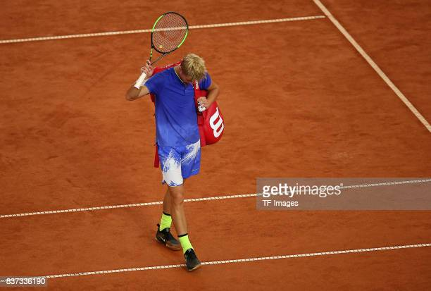 Rudolf Molleker of Germany looks on during the International German Open at Rothenbaum on July 25 2017 in Hamburg Germany