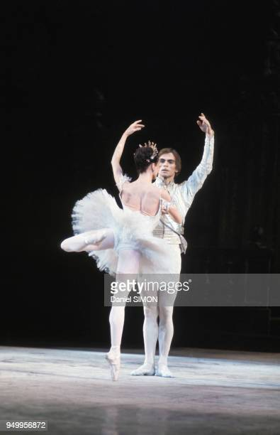 Rudolf Noureev et Margot Fonteyn dans le ballet 'La Belle au bois dormant' en 1973