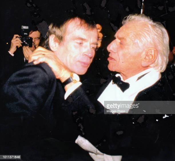Rudolf Nureyev and Leonard Bernstein circa 1998 in New York City