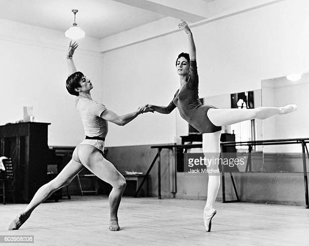 Rudolf Nureyev and Lupe Serrano rehearsing for a television appearance 1962