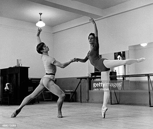 Rudolf Nureyev and Lupe Serrano rehearsing for a television appearance in November 1962