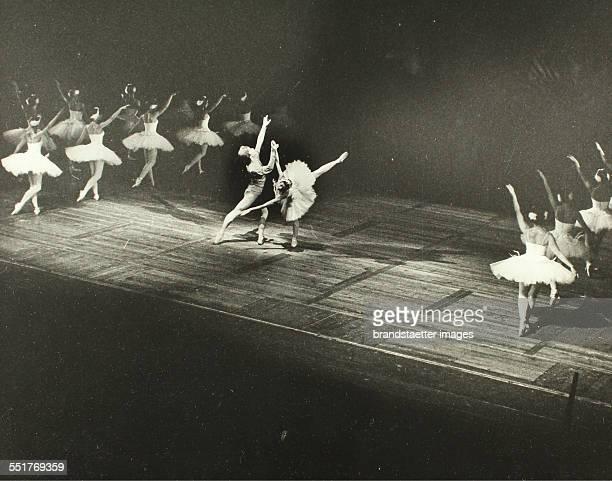 Rudolf Nureyev and Margot Fonteyn in Ballet 'Swan lake' in Vienna 1964 Stamp 1 and 2 238 303 cm Photograph