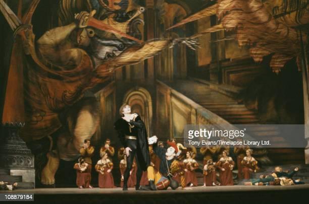 Rudolf Nureyev as Hamlet choreographed by Robert Helpmann with Lynn Seymour and Christopher Gable 1964