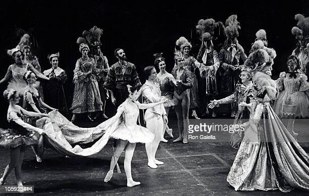Rudolf Nureyev Margot Fonteyn and dancers during The Sleeping Beauty Gala Benefit Ballet Performance November 11 1973 at City Center in New York City...