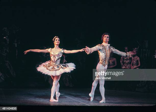 Rudolf Nureyev performing with Veronica Tenant and the National Ballet of Canada in 'Sleeping Beauty' which he choreographed in 1972