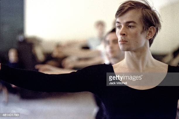 Rudolf Nureyev rehearsing less than a year after he defected from the Soviet Union to the West photographed in New York City January 241962
