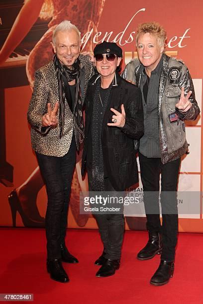 Rudolf Schenker Klaus Meine The Scorpions attends the LEA Live Entertainment Award 2014 at Festhalle Frankfurt on March 11 2014 in Frankfurt am Main...