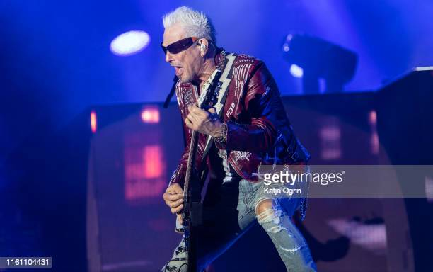 Rudolf Schenker of Scorpions performs on stage during Bloodstock Festival 2019 at Catton Hall on August 11, 2019 in Burton Upon Trent, England.