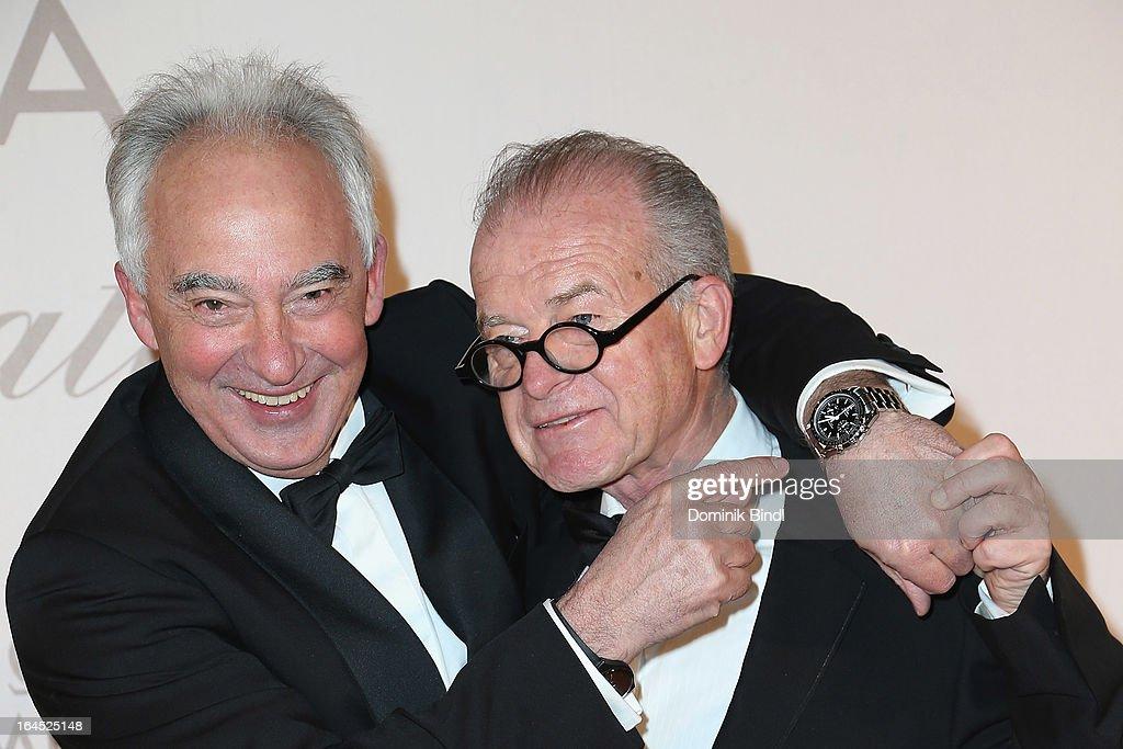 Rudolf Semrad and Rudi Klausnitzer attend the Omega Gala 'La Nuit Enchantee' at Gartenpalais Liechtenstein on March 23, 2013 in Vienna, Austria.