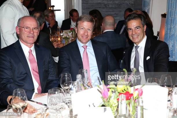 Rudolf Staudigl Wacker Chemie AG Oliver Zipse Member of the board BMW AG Dr Sascha Haghani during the UniCredit and GallerCompany business dinner on...