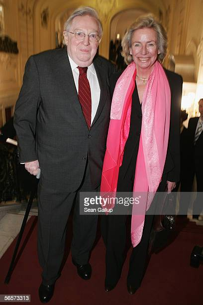 Rudolf Stilcken and Angelika Jahr attend the 100th anniversary of German luxury goods maker Montblanc at the Laeiszhalle January 11 in Hamburg Germany