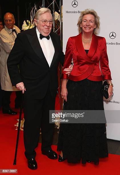 Rudolf Stilcken and Angelika Jahr attend the 15th AIDS Gala at the Deutsche Oper on November 8 2008 in Berlin Germany