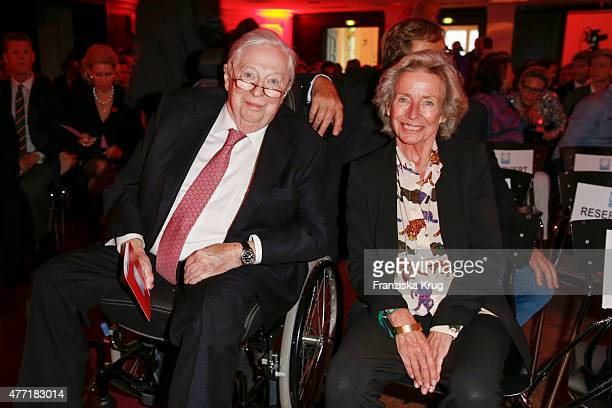 Rudolf Stilcken and Angelika JahrStilcken attend the 'Das Herz im Zentrum' Charity Gala on June 14 2015 in Hamburg Germany