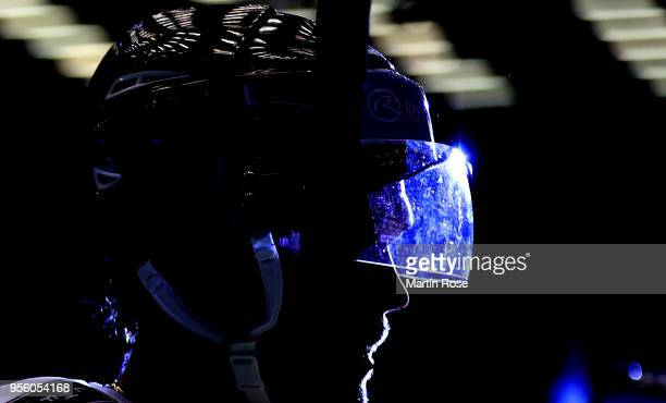 Rudolfs Balcers of Latvia is seen during the 2018 IIHF Ice Hockey World Championship group stage game between Korea and Latvia at Jyske Bank Boxen on...