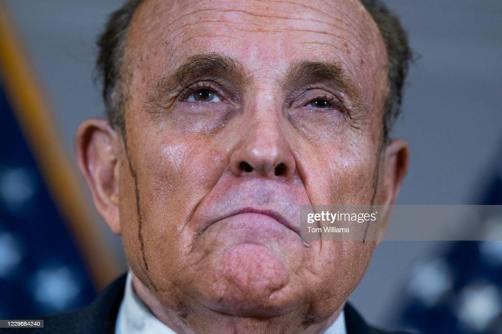 RNC Trump Presser with Giuliani : News Photo