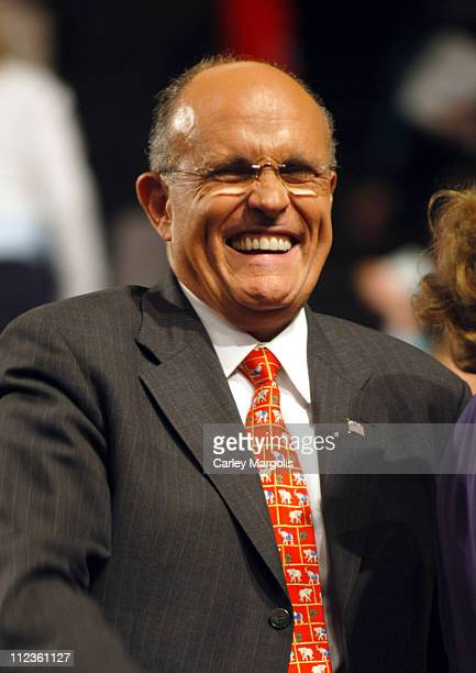 Rudolph Giuliani during 2004 Republican National Convention - Day 3 - Inside at Madison Square Garden in New York City, New York, United States.