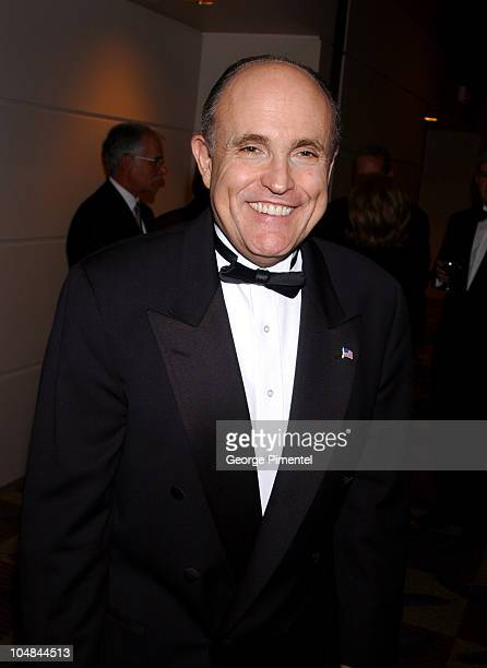 Rudolph Giuliani during An Evening with Rudolph Giuliani to Benefit the Centre for Research in Women's Health at Constitution Hall in Toronto Ontario...