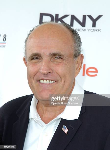 Rudolph Giuliani during Super Saturday 8 The World Famous Designer Garage Sale Benefiting The Ovarian Cancer Research Fund Hosted by Donna Karan and...