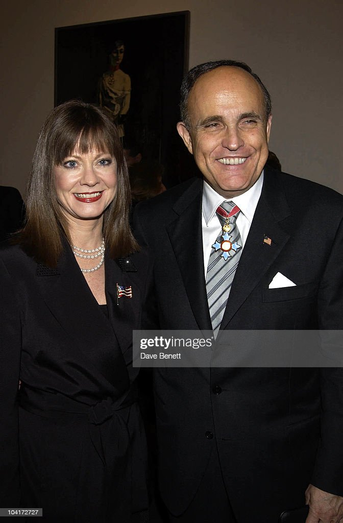 Rudolph Giuliani & Judith Nathan, Charity Auction For Signed Photos For Twin Towers Fund, At The Royal Academy Of Arts, Piccadilly, London