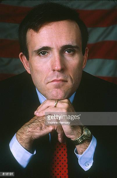 Rudolph Giuliani poses for a photographer in a New York City studio December 15, 1986. Mayor Giuliani announced April 27, 2000 in a press conference...