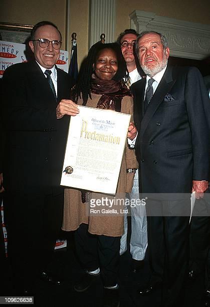 Rudolph Giuliani Whoopi Goldberg Freddie Goldman and Alan King