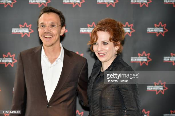 Rudolph Herzog and Katherine Parkinson attend a photocall for the UK Premiere of 'How To Fake a War' during the 73rd Edinburgh International Film...