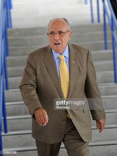 Rudolph Rudy Giuliani former mayor of New York attends the Republican National Convention in Tampa Florida US on Wednesday Aug 29 2012 Representative...
