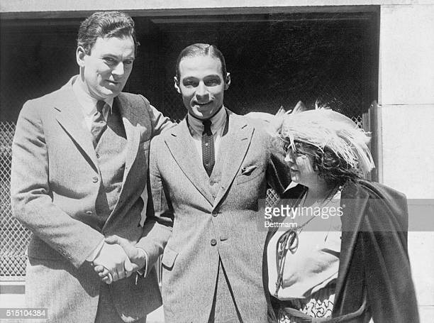 Rudolph Valentino, screen star, whose marriage to Winifred Hudnut resulted in his being arrested for bigamy, was released on bail furnished by June...