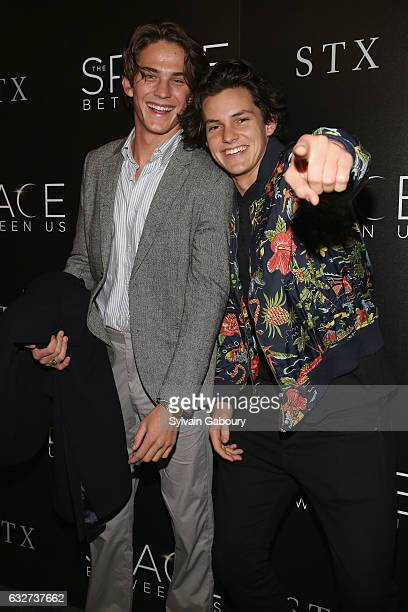 """Rudy Akels and Tommy Hackett attend STX Entertainment with The Cinema Society Host a Screening of """"The Space Between Us"""" on January 25, 2017 in New..."""