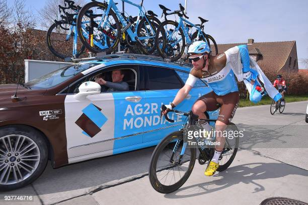 Rudy Barbier of France and Team AG2R La Mondiale / during the 80th GentWevelgem In Flanders Fields 2018 a 2508km race from Deinze to Wevelgem on...