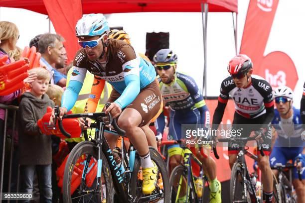 Rudy Barbier of France and Team AG2R La Mondiale / Mammolshain / during the 57th Rund um den Finanzplatz Eschborn-Frankfurt 2018 a 211km race from...