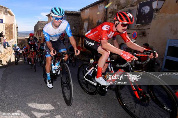 Rudy Barbier of France and Team Israel Start-Up Nation / Nico Denz of Germany and Team Sunweb / during the 78th Paris - Nice 2020, Stage 6 a 161,5km...