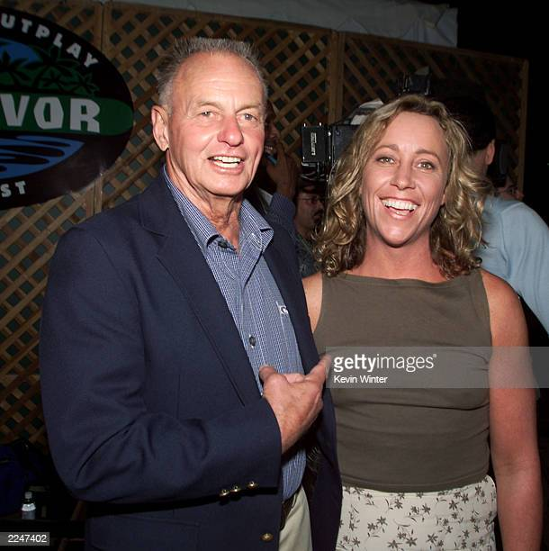 Rudy Boesch and Susan Hawk at the 'Survivor' party at CBS Television City Los Angeles Ca The cast was reunited on Wednesday August 23 2000 on the...