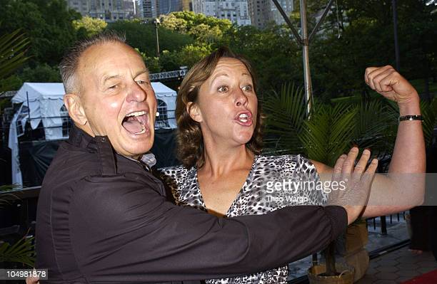 Rudy Boesch and Susan Hawk during Survivor Marquesas Season Finale Arrivals at Central Park in New York City New York United States