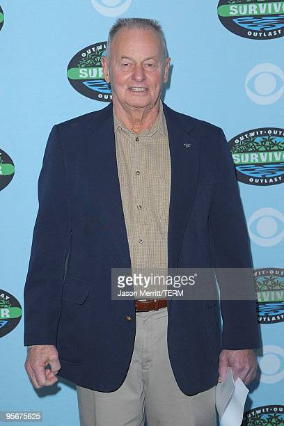 Rudy Boesch arrives at the CBS Survivor 10 Year Anniversary Party on January 9 2010 in Los Angeles California