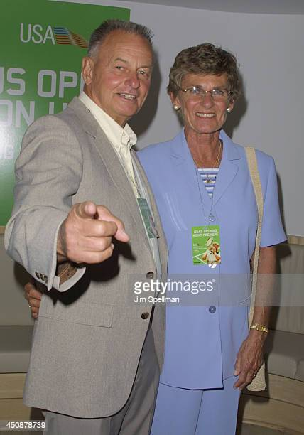 Rudy Boesch Marge during USA Network's Opening Night Premiere at the 2001 US Open at Arthur Ashe Stadium in Flushing Meadows New York United States