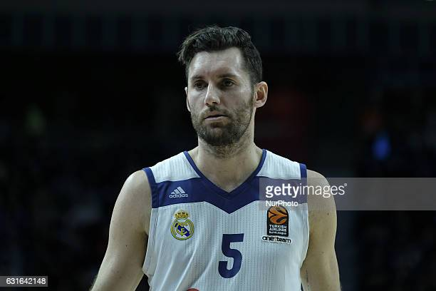 Rudy Fermandez of Real Madrid in action during the 2016/2017 Turkish Airlines EuroLeague Regular Season Round 17 game between Real Madrid v Maccabi...