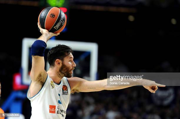 Rudy Fernandez #5 guard of Real Madrid during the 2017/2018 Turkish Airlines Euroleague Regular Season Round 8 game between Real Madrid v Unicaja...