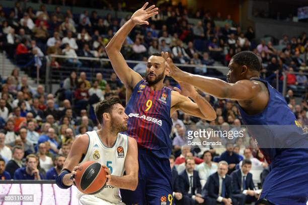 Rudy Fernandez #5 guard of Real Madrid during the 2017/2018 Turkish Airlines Euroleague Regular Season Round 12 game between Real Madrid v FC...