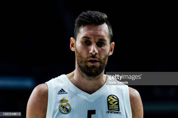 Rudy Fernandez #5 guard of Real Madrid during the 2018/2019 Turkish Airlines Euroleague Regular Season Round 27 game between Real Madrid and Kirolbet...