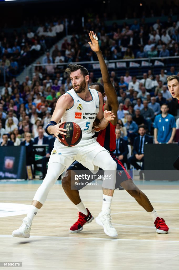 Rudy Fernandez, #5 guard of Real Madrid during the Liga Endesa game between Real Madrid and Kirolbet Baskonia at Wizink Center on June 13, 2018 in Madrid, Spain.