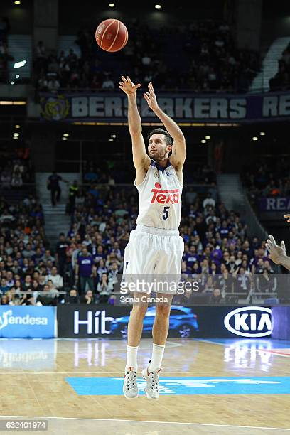 Rudy Fernandez #5 guard of Real Madrid in action during the Liga Endesa game between Real Madrid and Valencia Basket at Barclaycard Center on January...