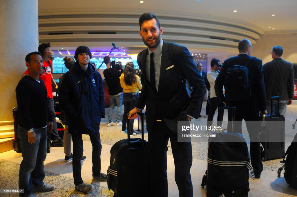 Rudy Fernandez, #5 of Real Madrid during the Real Madrid arrival to participate of 2018 Turkish Airlines EuroLeague F4 at Hyatt Regency Hotel on May 16, 2018 in Belgrade, Serbia.
