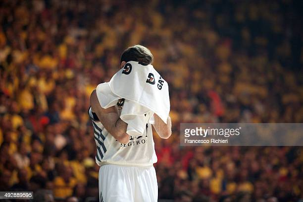 Rudy Fernandez #5 of Real Madrid during the Turkish Airlines Final Four Final game between Real Madrid vs Maccabi Electra Tel Aviv at Mediolanum...