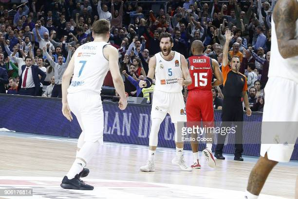 Rudy Fernandez #5 of Real Madrid in action during the 2017/2018 Turkish Airlines EuroLeague Regular Season Round 18 game between Real Madrid and...