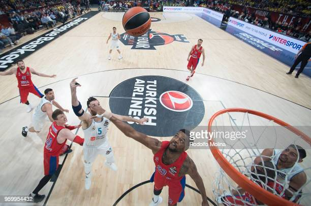 Rudy Fernandez #5 of Real Madrid in action during the 2018 Turkish Airlines EuroLeague F4 Semifnal B game between Semifinal A CSKA Moscow v Real...