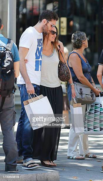 Rudy Fernandez and Helen Lindes are seen on July 11 2013 in Madrid Spain